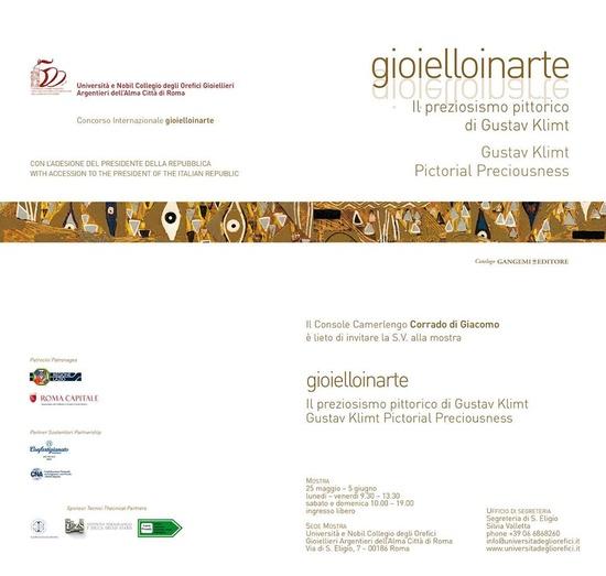 Gioielloinarte - Il preziosismo pittorico di Gustav Klimt- 25 mai-5 juin - Roma