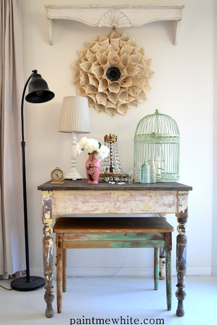Decorating with Vintage from Paint Me White