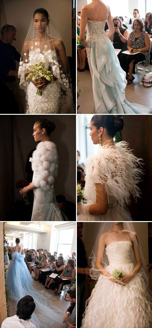 Oscar De La Renta Spring 2013 Wedding Dress Collection, photos by Nathan Kraxberger via Junebug Weddings