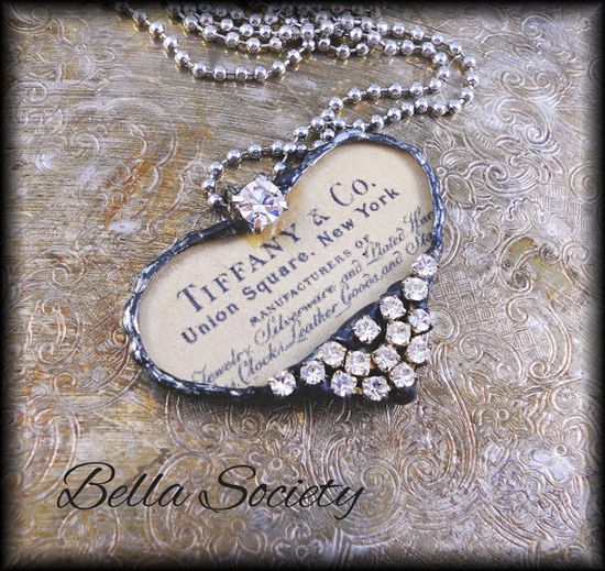 Tiffany & Co heart soldered pendant by BellaSociety.