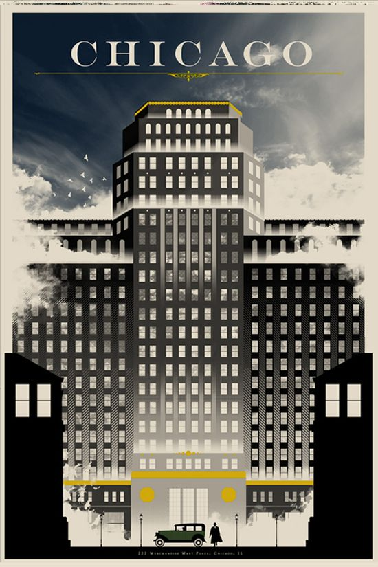 Chicago #vintage #travel #poster #USA