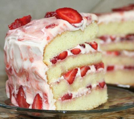 The ultimate strawberry cake!
