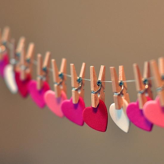 . valentines garland