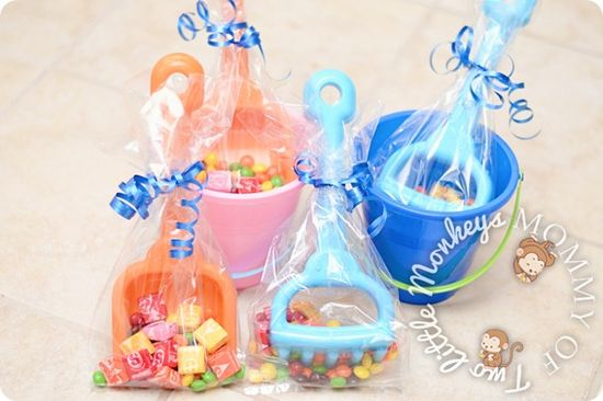 Cute party favors for a beach themed party