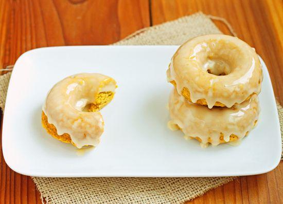 Pumpkin Donuts with Honey Glaze-d42