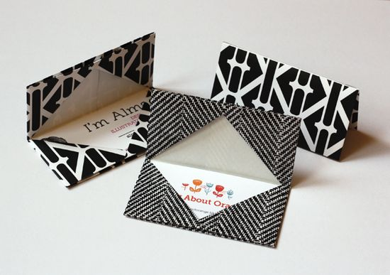 Origami Business Card or Gift Card Holder