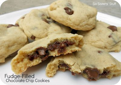 Fudge-filled Chocolate Chip Cookies . . . the way to make a classic cookie taste even more amazing!