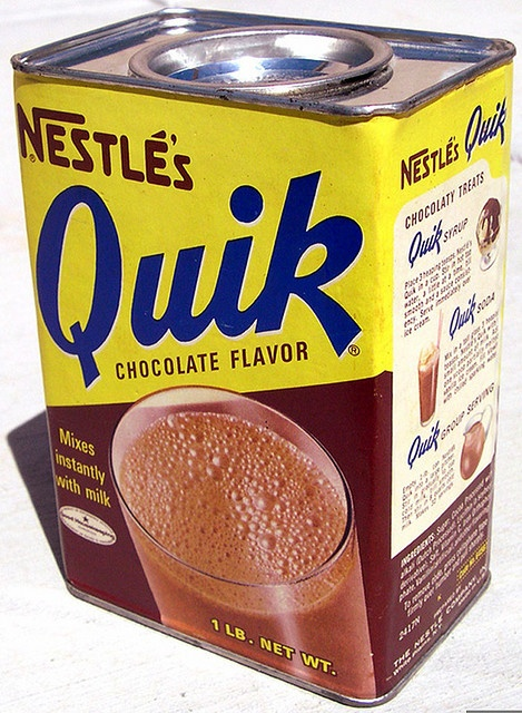 Forget about it Coke, or any other soda pop. I'd take a glass of Nestle's Quick over most any other drink any day of the week during my childhood, and usually did!
