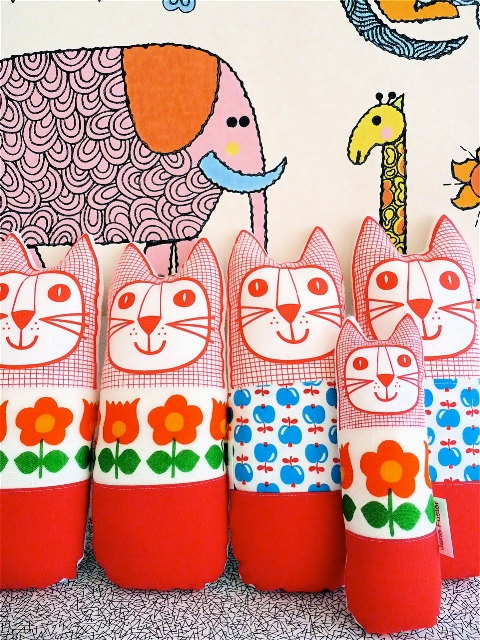 Fabric Cat Toys by Jane Foster
