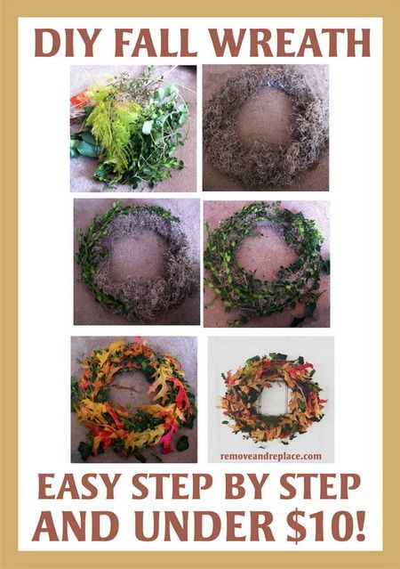 How To Make A 'Do It Yourself' Fall Wreath For Under 10 Dollars.