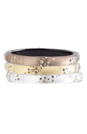 Alexis Bittar 'Smoky Dust' Small Hinged Bracelet