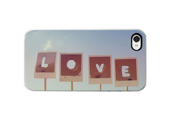 Polaroid iPhone 4s Case love girly iphone 4 case by dullbluelight