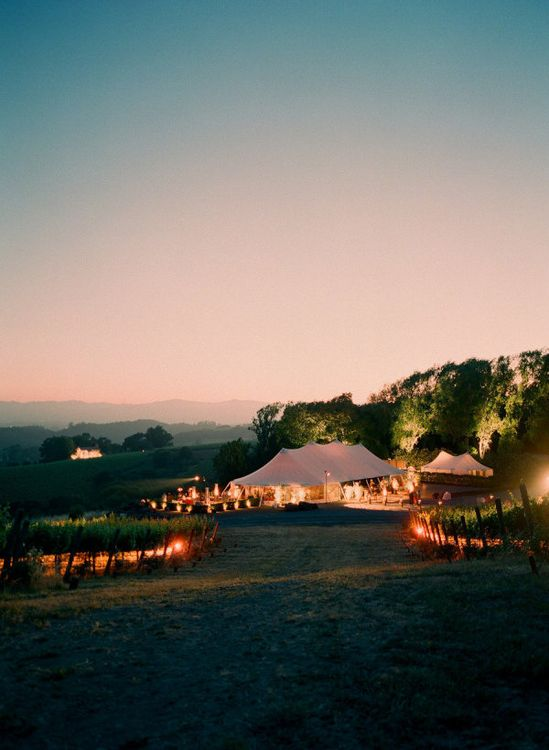 tent wedding and reception