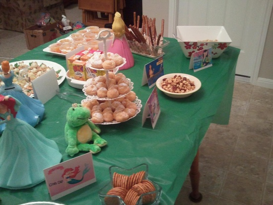 Disney Princess Party -food!  Each item matched a princess