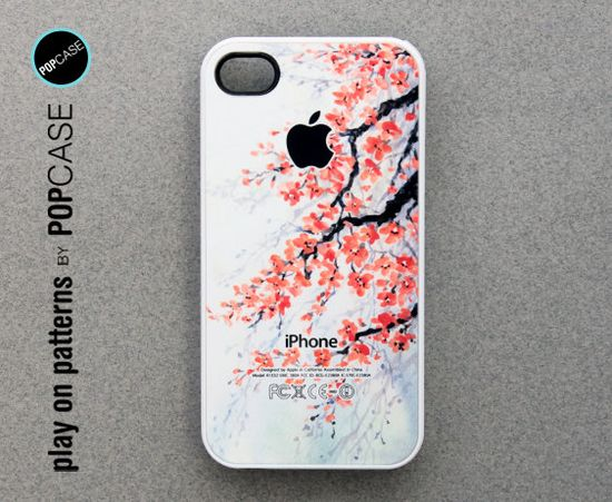iphone 4 Case - iphone 4 cover - plastic or rubber - floral. , via Etsy.