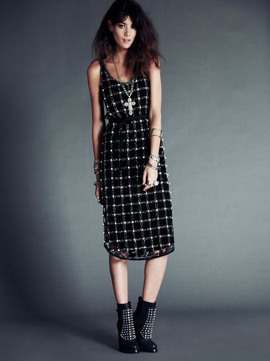 FP New Romantics Material Girl Lattice Dress at Free People Clothing #Romantic Elegance Collections