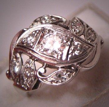 Antique diamond Art Deco wedding ring.