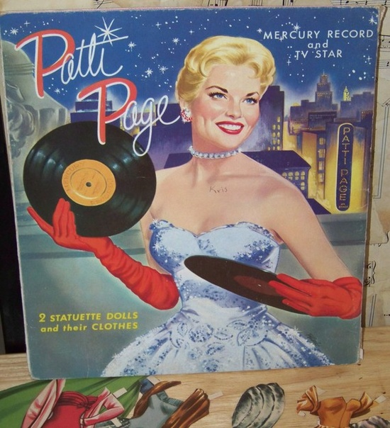 Patti Page Paper Doll and Clothes in a Wonderful Folder