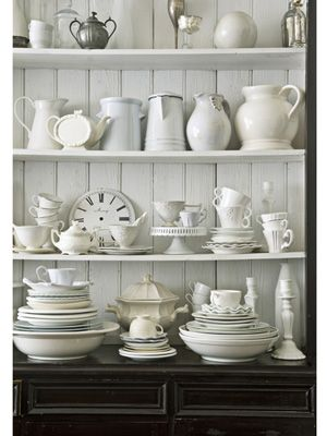 white shabby chic collection