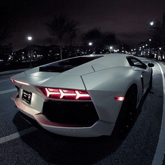 Clean white Lamborghini Aventador!