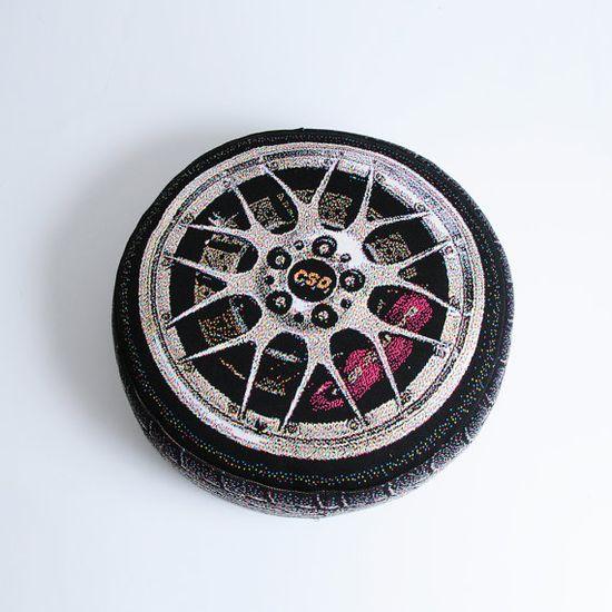 Luxury Sport Car Wheel............... Pillow. $78.00, via Etsy.