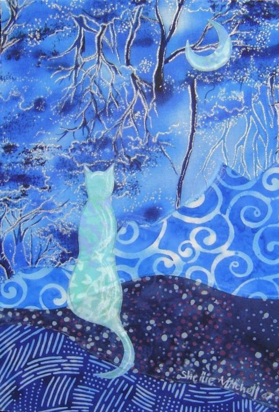 ACEO Blue Blue Evening