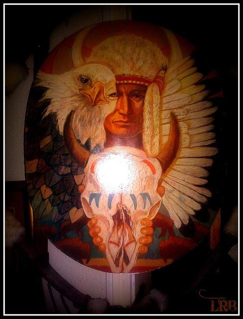Native American Art/Skull, via Flickr.