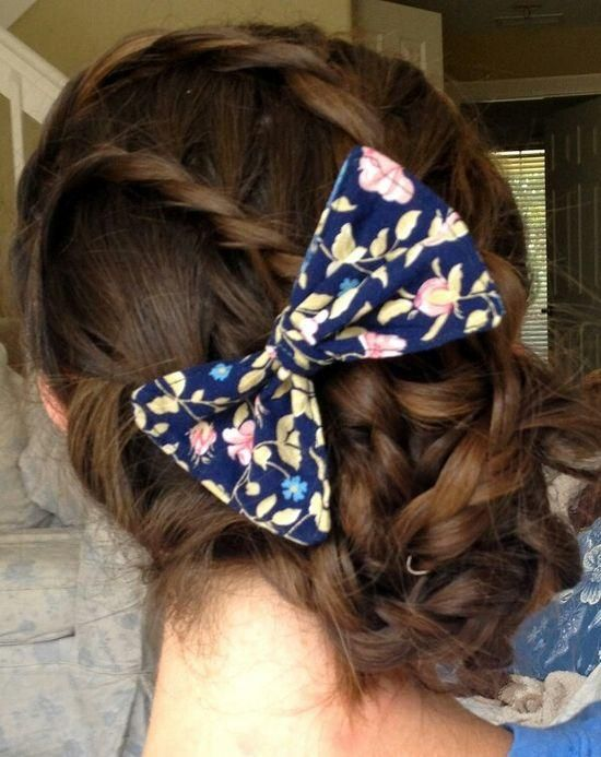 bow and braid updo