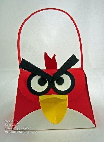 angry bird die-cut purse