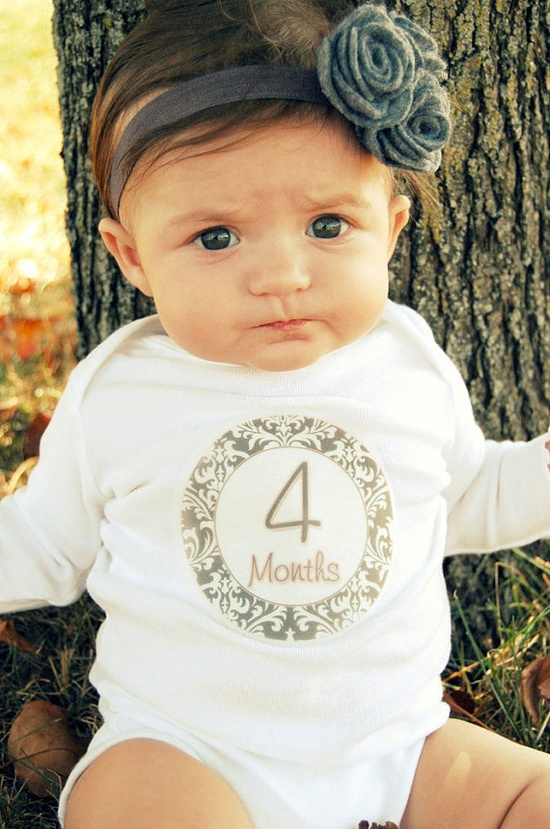 Monthly Onesie Stickers Baby Month Stickers < I must have these!