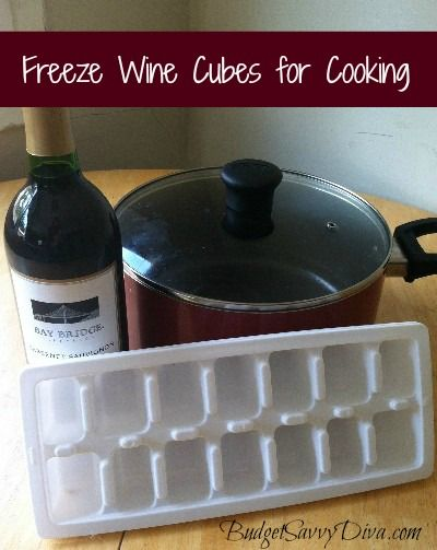 Freeze Wine Cubes for Cooking