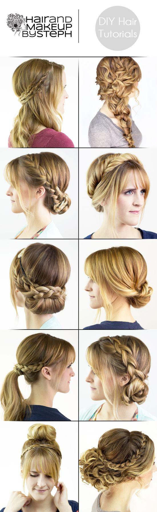 23 DIY hair styles..  #hair #diy
