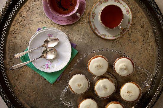 Honey Chamomile Cupcakes