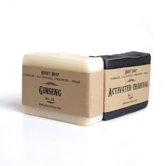 Men Soap set Vegan Soap Unscented Soap All Natural by RightSoap