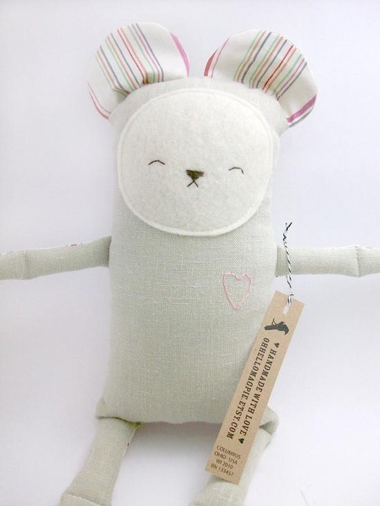 Plush Linen Bear