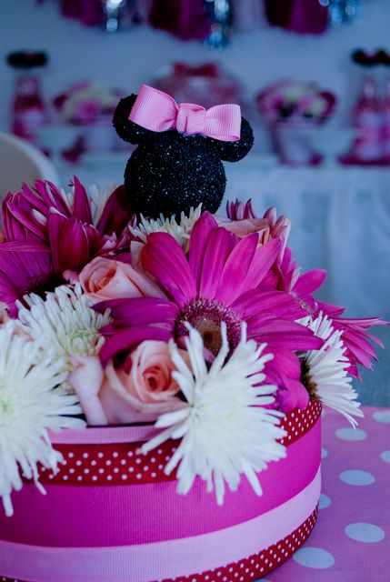Decor at a Minnie Mouse Party #minniemouse #decor