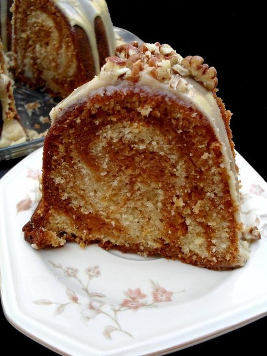 Butterscotch swirl cake