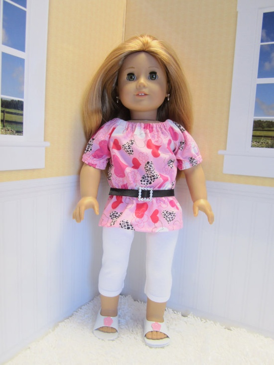 American girl doll clothes Valentine's  UK by JazzyDollDuds, $15.00
