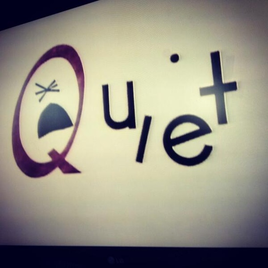Quiet via @EastYYCGirl