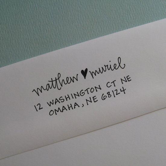 Self-ink address stamp, lettergirl shop on Etsy