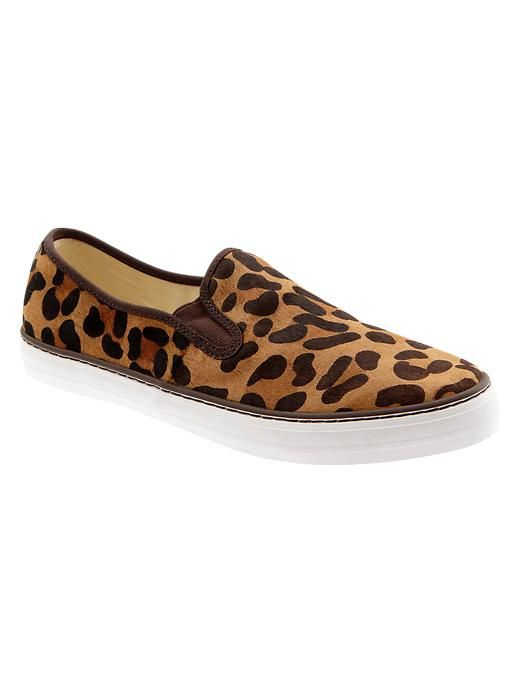 Animal Print Slip On Sneakers