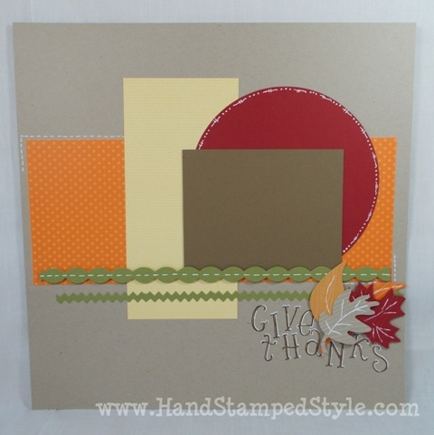 Fall Layout- www.Hand Stamped Style.com