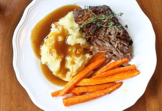 herb crusted pot roast.
