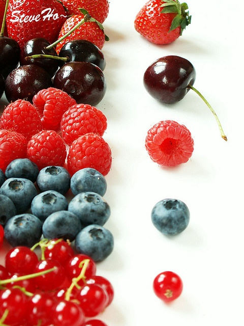 Berries, berries, berries....yet to meet a berry I didn't like. :)  So many health benefits too!