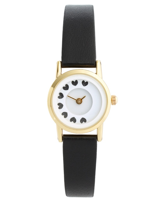 Moving dial heart watch - too cute.