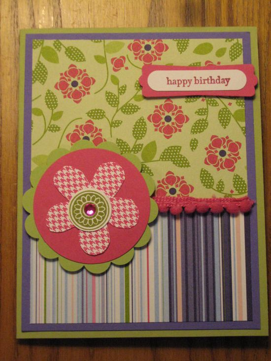 Mother's Day Birthday Handmade Card Sister Daughter Friend Mom Stampin Up card