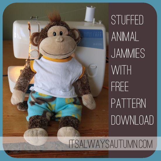 DIY Stuffed Animal Jammies {freepattern!}