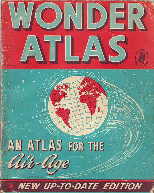 Ephemera: Wonder atlas by What Katie Does, via Flickr