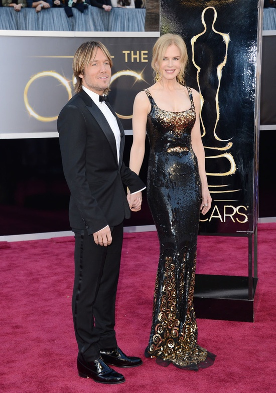 #KeithUrban and #NicoleKidman on the red carpet at the 2013 #Oscars