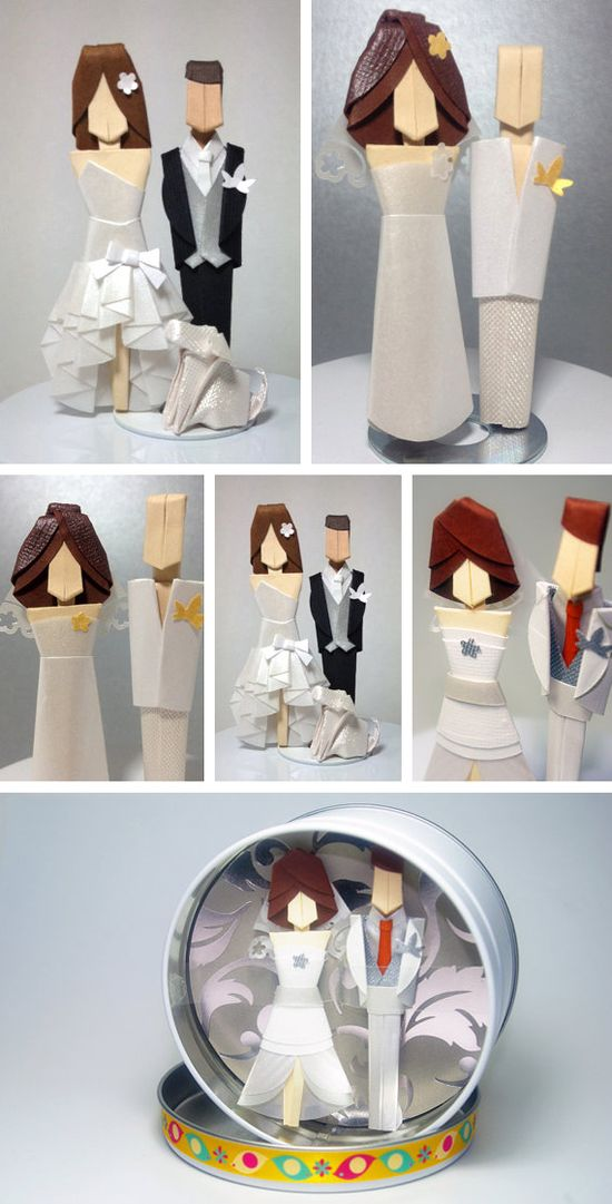 Origami Cake Topper wedding decorations origami wedding images wedding pictures wedding ideas cake topper wedding decorations bride and groom